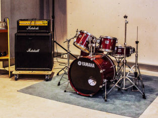 Large studio with backline