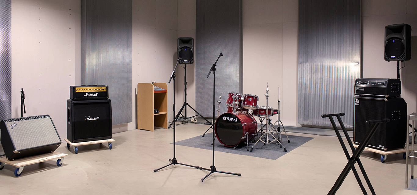 studio with backline